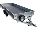 16' Flat Bed Drop Side Trailer - MEF 30166